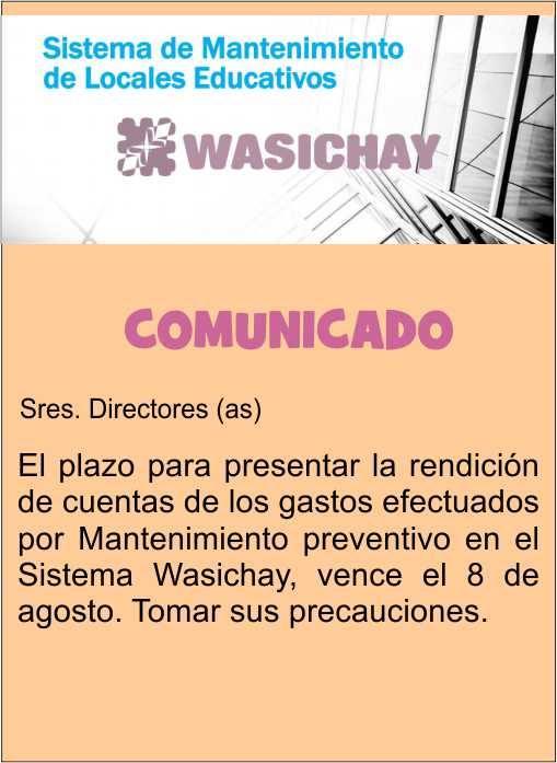 COMUNICADO WASICHAY