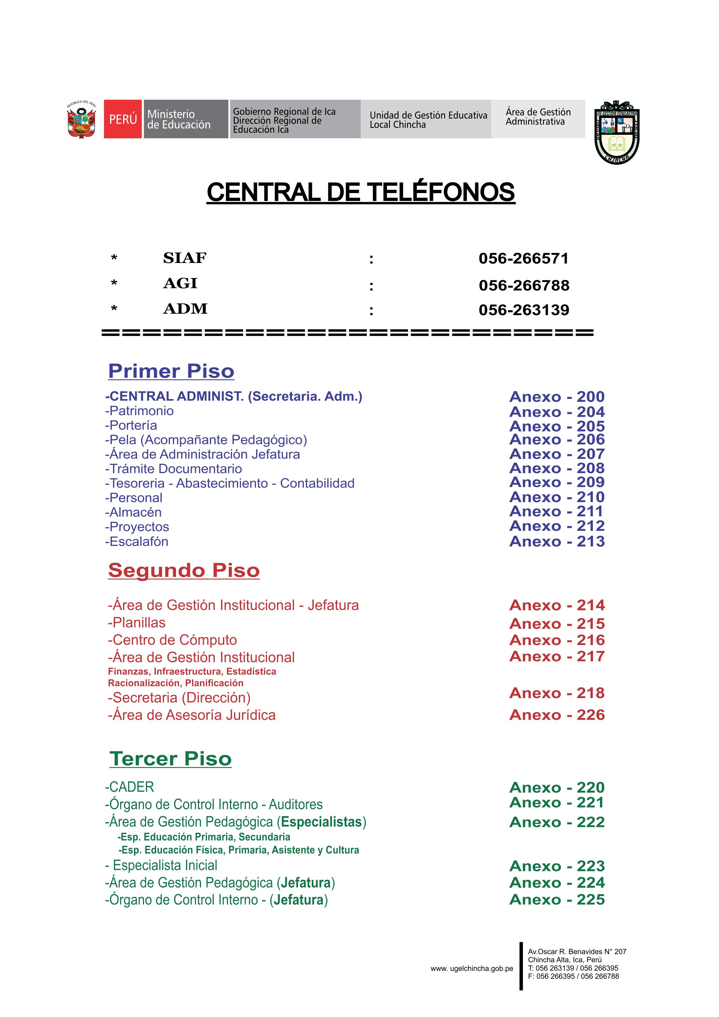 DIRECTORIO UGEL