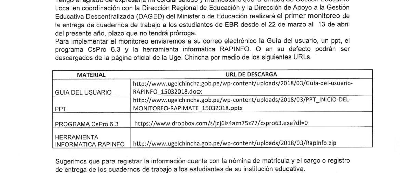 oficio multiple 043-2018 direccion